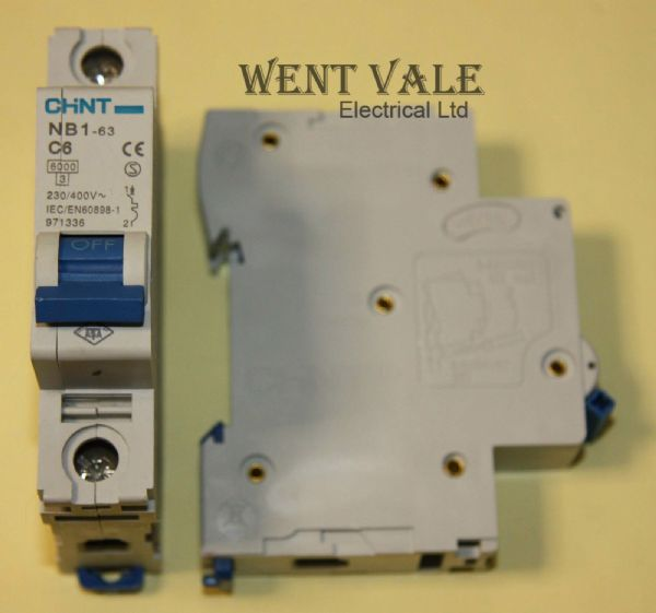 Chint NB1-63-C6 - 6a Type C Single Pole MCB Used